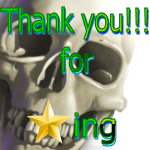 Thank You for Faving Skull by LA-StockEmotes