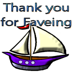 Thank You for Faveing Sail Boat by LA-StockEmotes