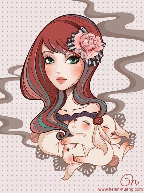 Sweet Bunny Dreams by CQcat