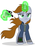 Littlepip is aiming at you by MlpTmntDisneyKauane