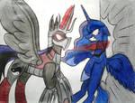 MLP and TMNT - Confrontation (Luna VS Shredder) by MlpTmntDisneyKauane