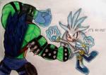 Maximus Kong VS Silver the Hedgehog by MlpTmntDisneyKauane