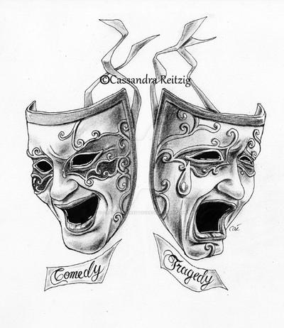 Comedy tragedy tattoo by cassandrareitzig on deviantart for Comedy and tragedy tattoo