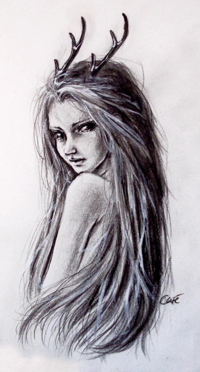 Deer Girl By Cassandrareitzig On Deviantart