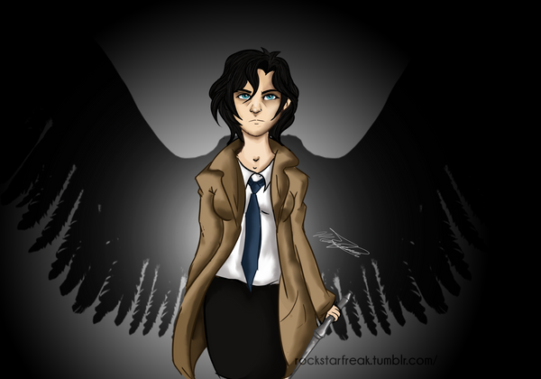 Supernatural genderbend Castiel by RoCkStarFreak