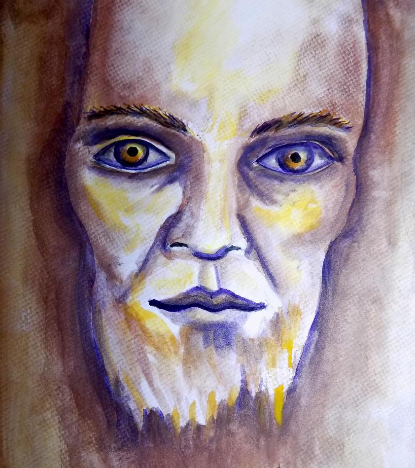 Old man portrait. by ELORACUCA