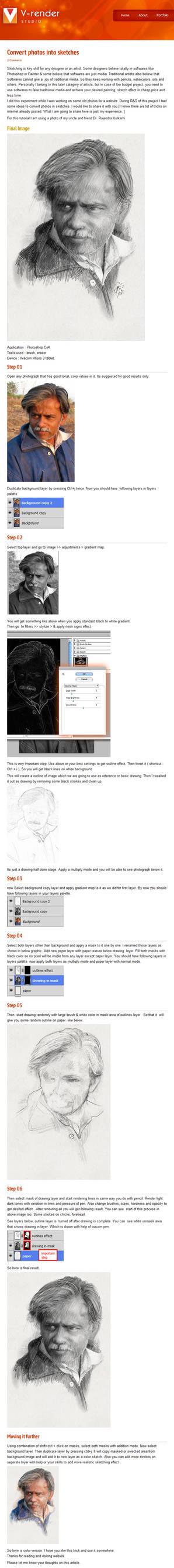 Convert photos into sketches