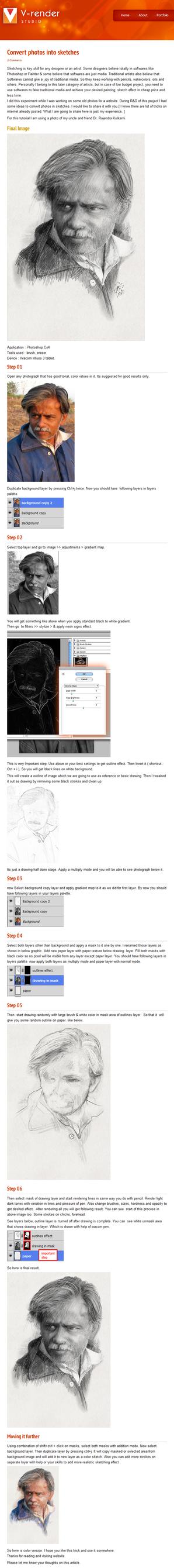 Convert photos into sketches by veeroo18