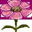 flower - first pixel art by veeroo18
