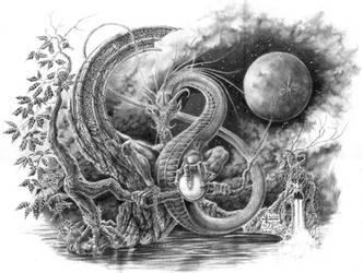 Perle de Lune, Larme de Dragon by ChristopheDuflot