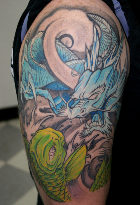 Healed Dragon and Koi tattoo by ~ragdollgrl13 on deviantART