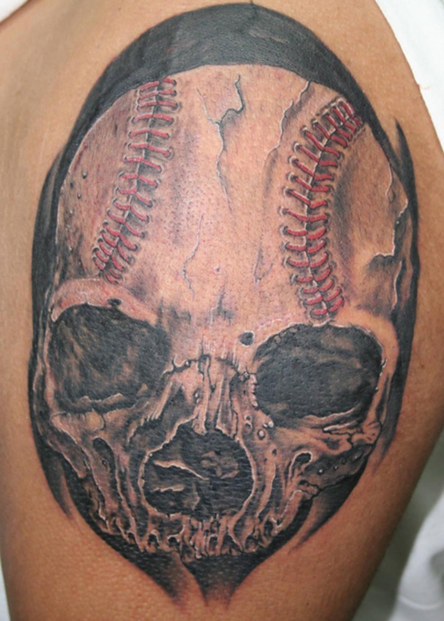 Skull Baseball by ragdollgrl13