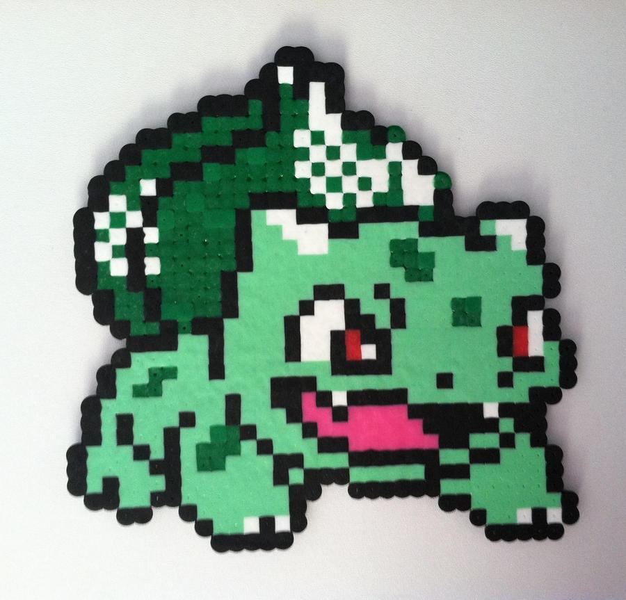 8 bit bulbasaur grid  Google Search  Crochet knit and