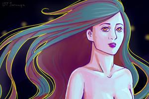 Flowy Hair by DTSaranya