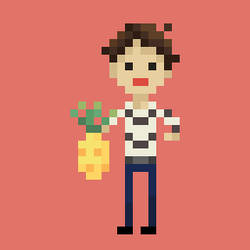 Man with Pineapple