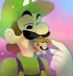 Giant Luigi hungry
