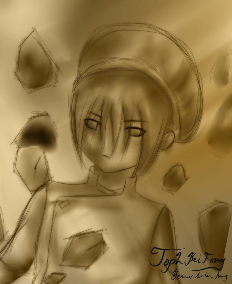Sketch of Toph Bei Fong by Cross-kun