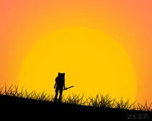 adventure time finn watching sun set - by ZezZ by kazaret