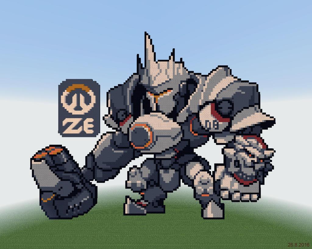 Minecraft Reinhardt Overwatch by kazaret
