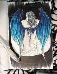 Moleskine Sketch: Fallen Angel by memetzger