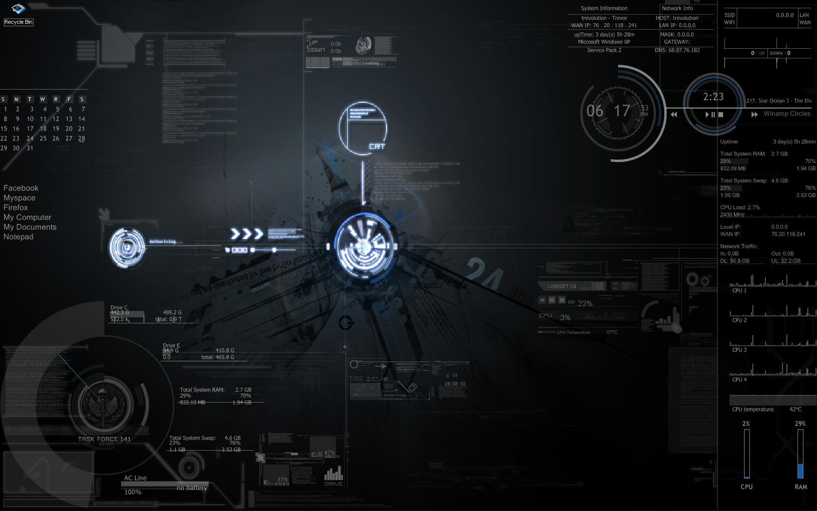Task Force Blue 2024 Rainmeter by trev...
