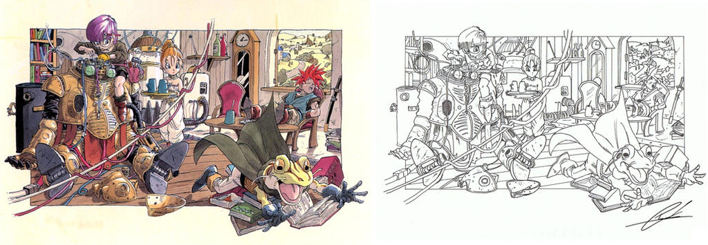 Akira Toriyama Original Artwork Line Study By Tonykouf8484 On Deviantart