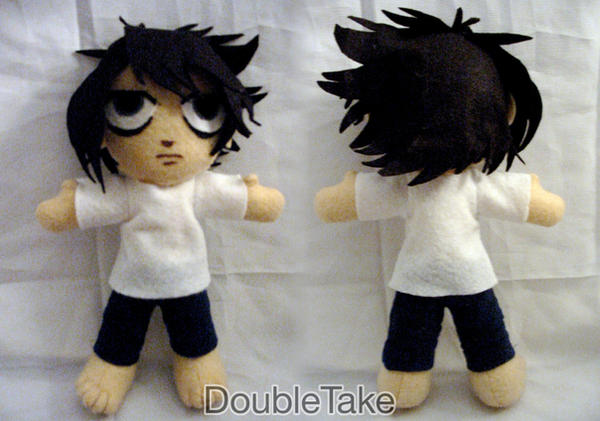 L Plushie - Deathnote by WhittyKitty