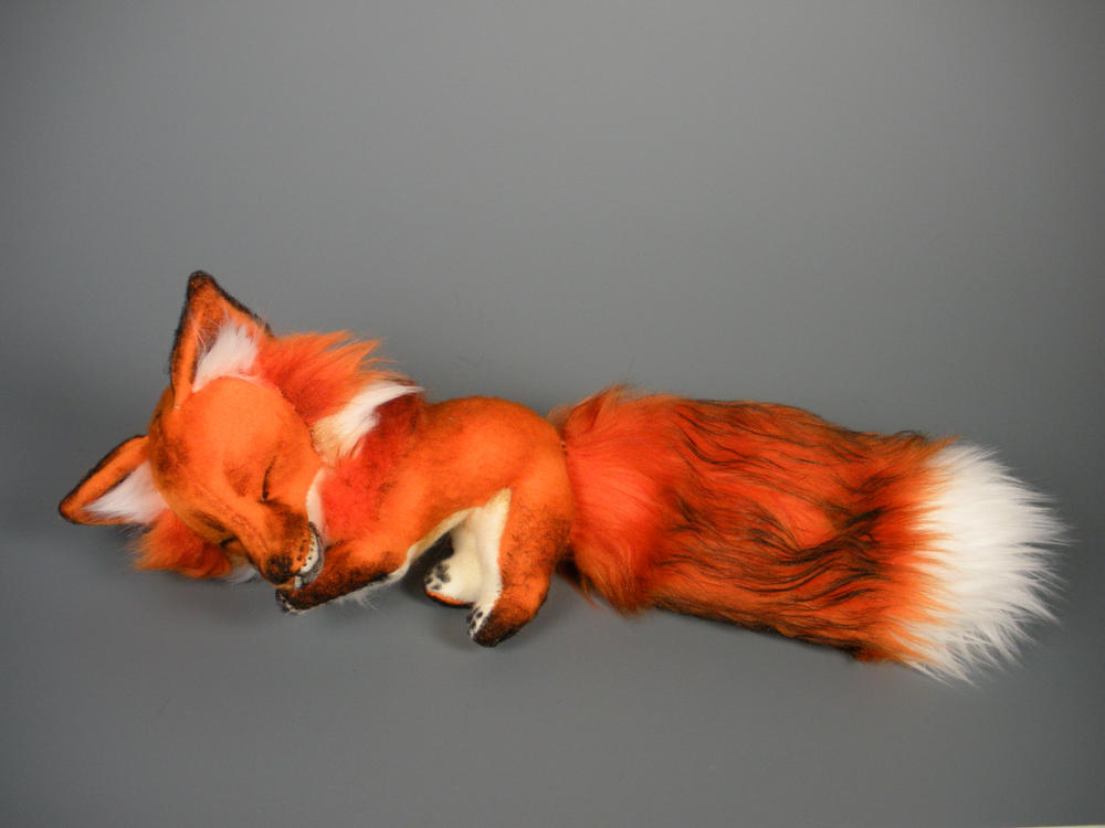 Sleepy Red Fox Plush