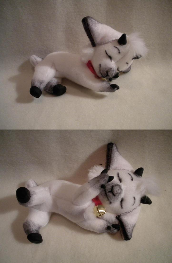 Sleeping Baby Goat Plush by WhittyKitty