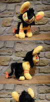 Shiny Luxio Plush by WhittyKitty