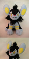 Sitting Luxio Plush by WhittyKitty