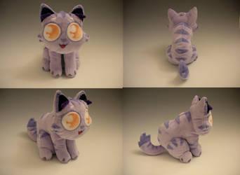 Lil Purple Kitty Plush by WhittyKitty
