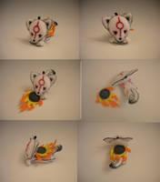 Okami Amaterasu Keychain Plush by WhittyKitty