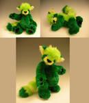 Green Red Panda Teddy