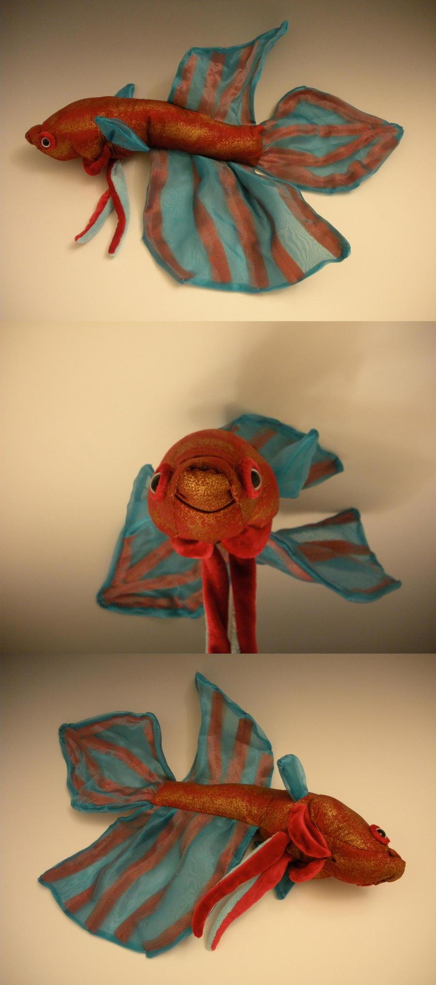 Betta fish plush by whittykitty on deviantart for Betta fish toys