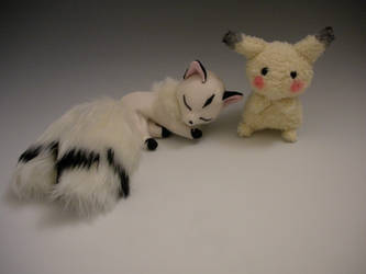 Kirara and Pikachu by WhittyKitty