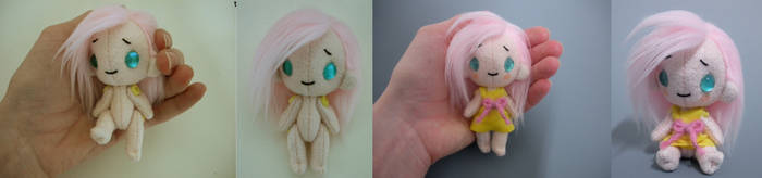 Button Jointed Keychain - Thin Human by WhittyKitty