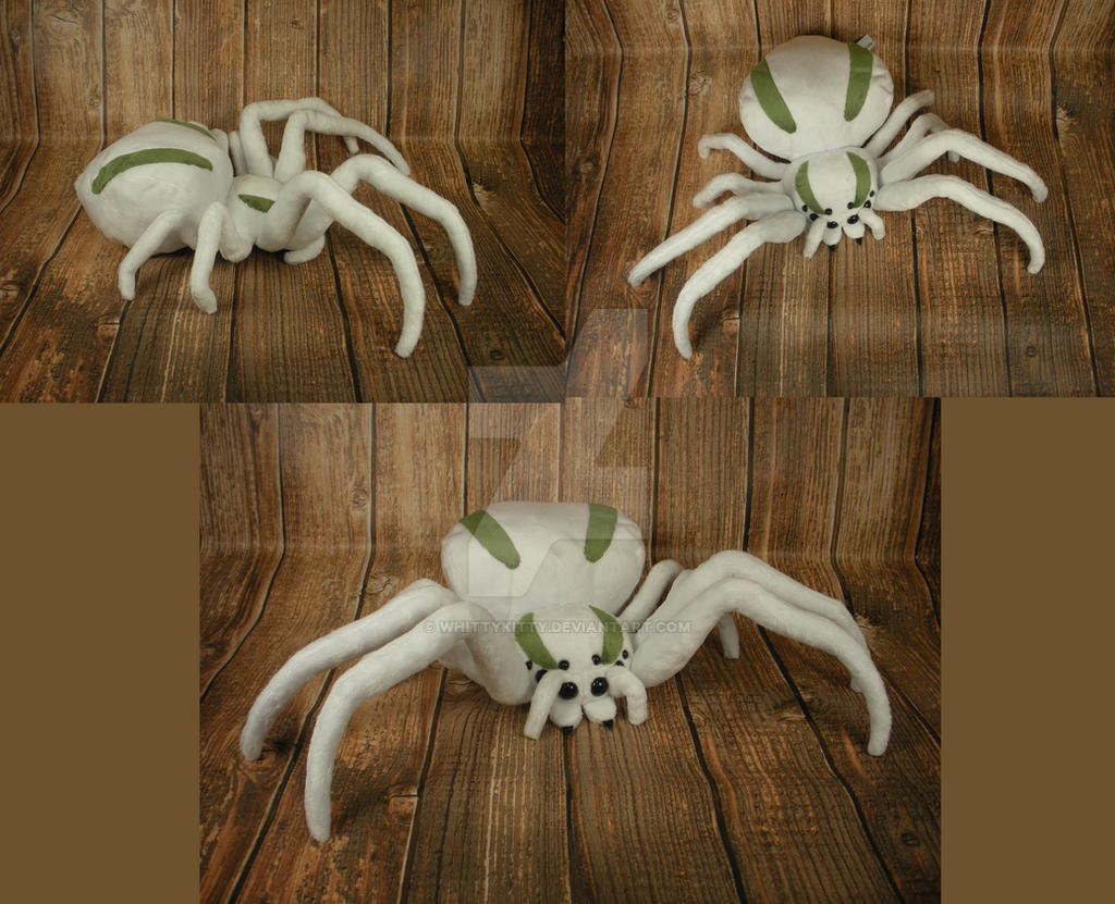 Crab Spider Plushie by WhittyKitty