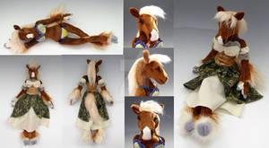 Custom Horse Anthro Doll - Dallas