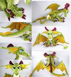 Poseable Emerald Dragon