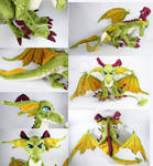 Poseable Emerald Dragon