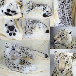 Lifesize Snow Leopard Plush