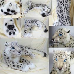 Lifesize Snow Leopard Plush