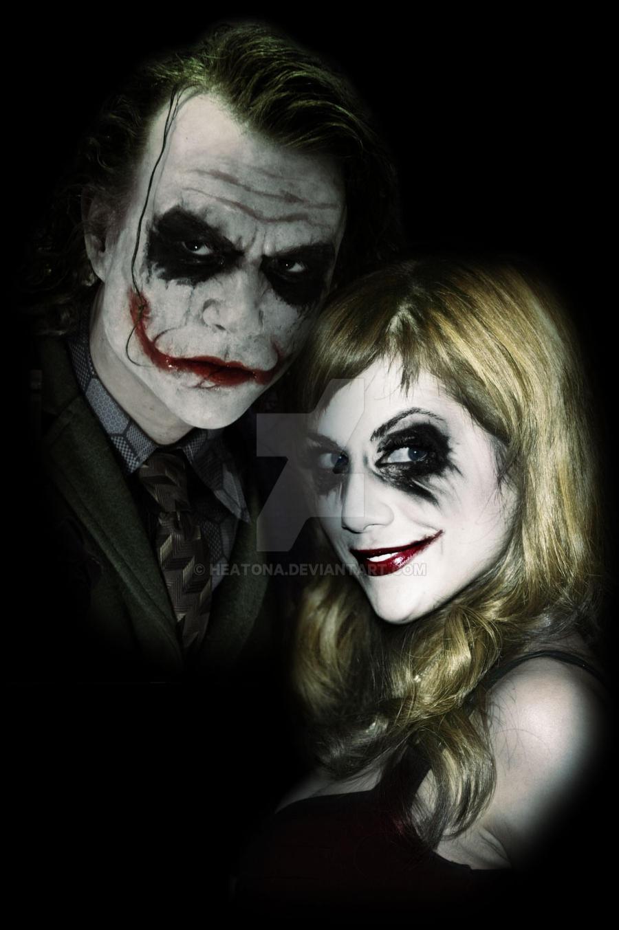 Joker and Harley by heatona