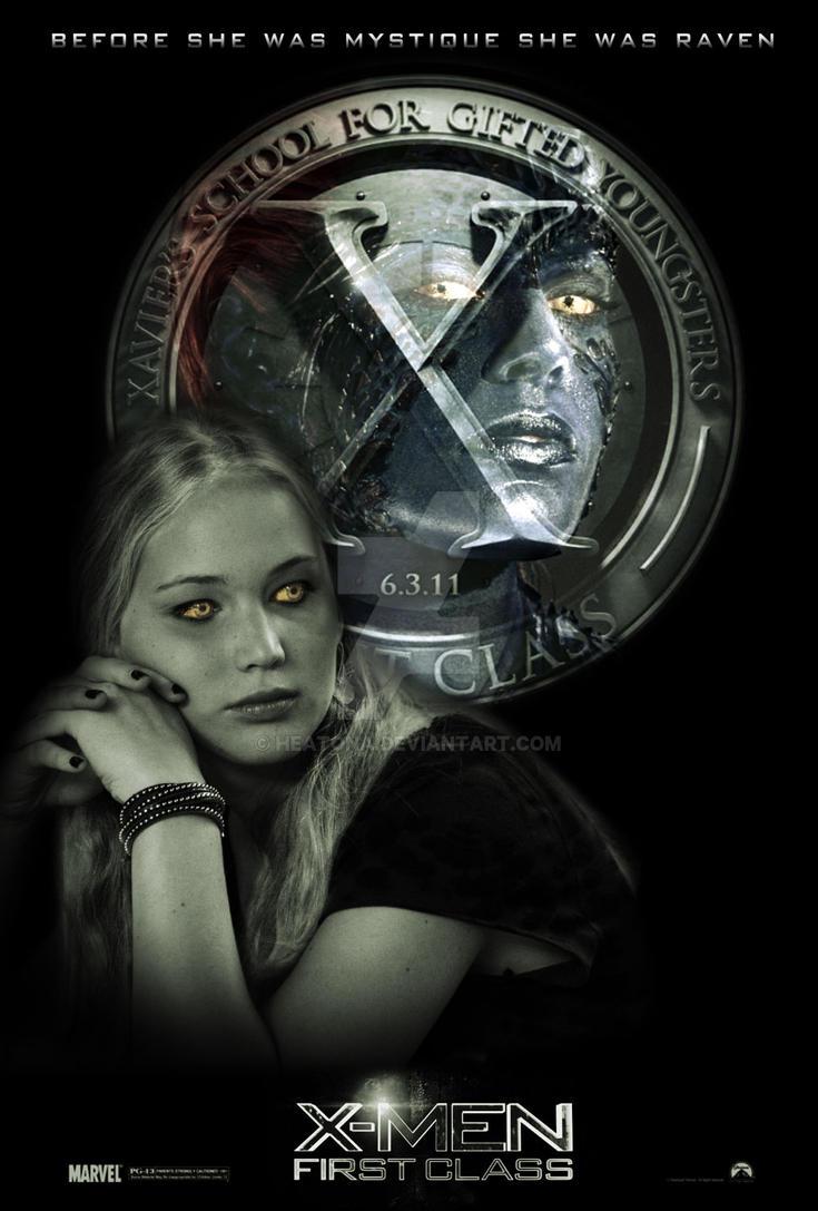 xmen first class mystique by heatona on deviantart