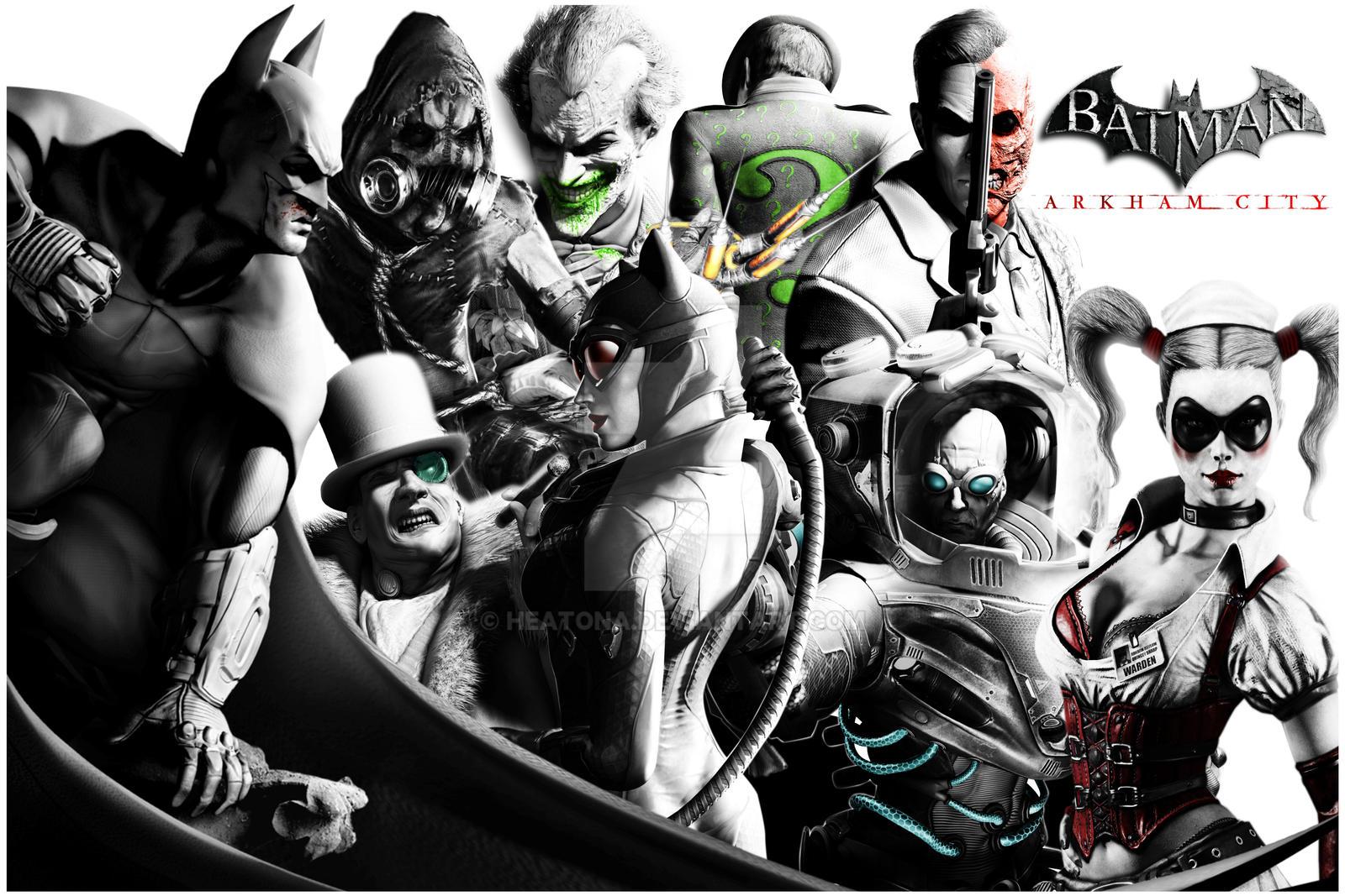 batman arkham city villains wallpaper images pictures