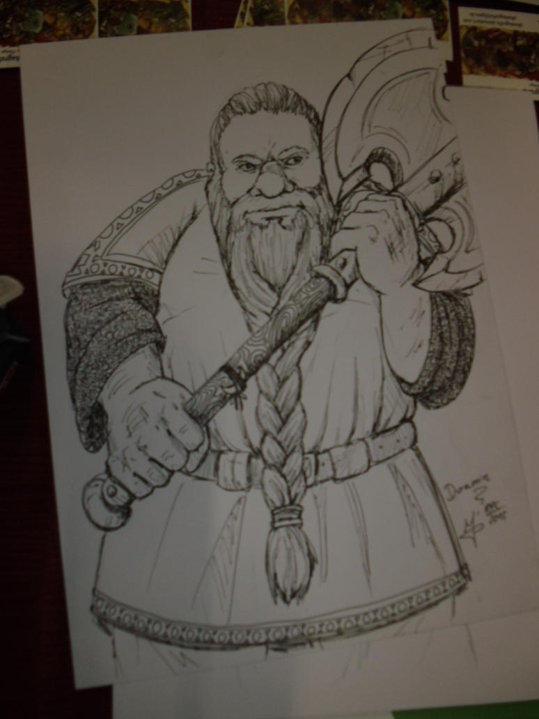 Role Play Convention 2015: a dwarf and his axe by Phantagrafie