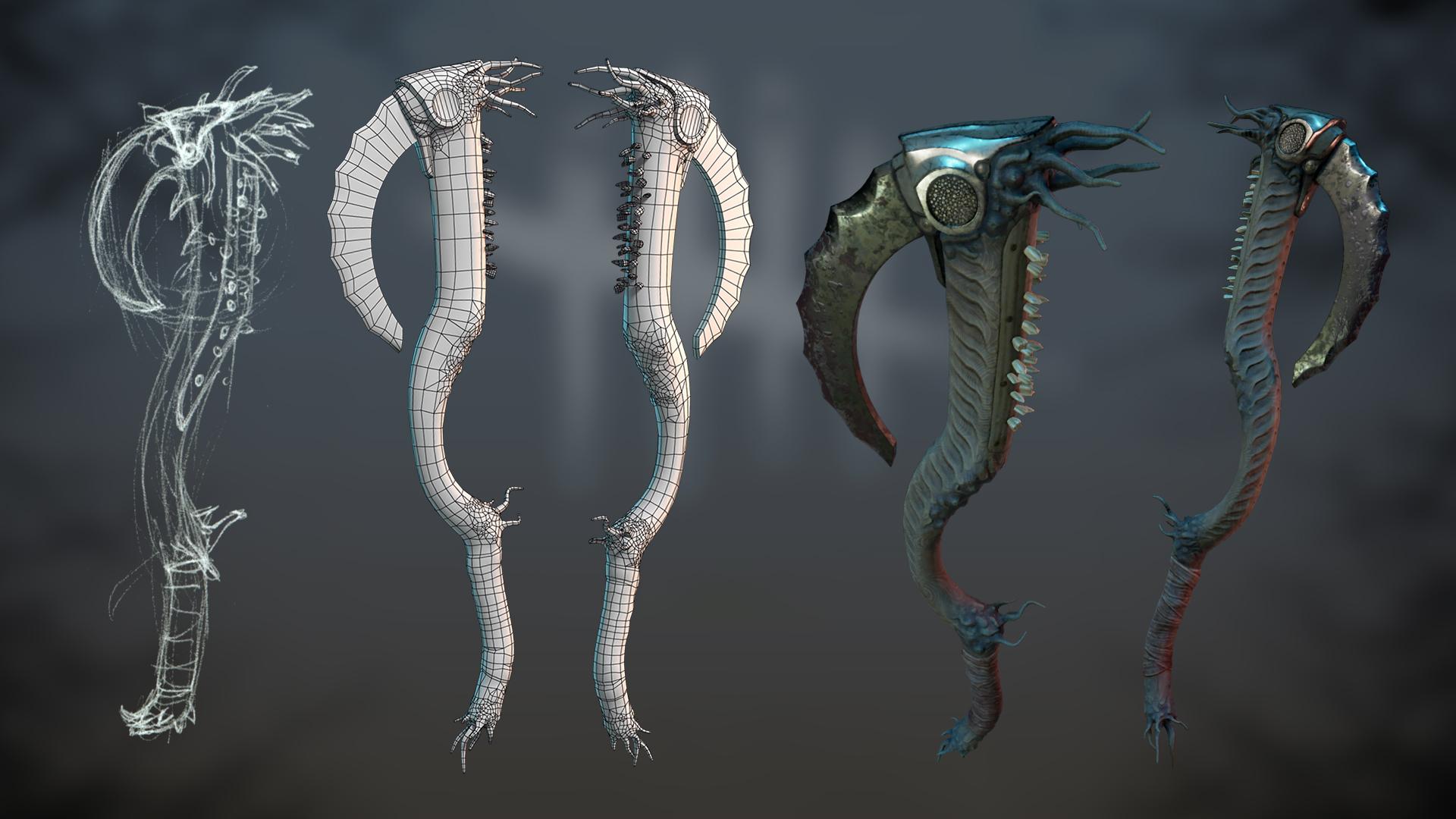Fanart Wraith weapon. by dshpilevoy