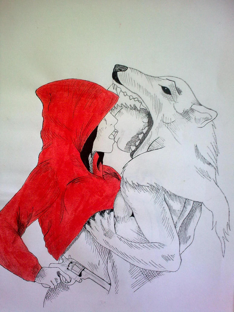 little red riding hood wolf by d4h0m3y on deviantart