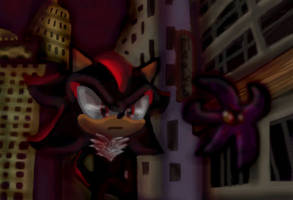 Shadow the hedgehog by 0Night-Shade0